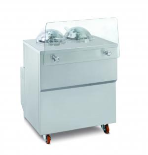Vitrína kombinovaná s výrobníkem zmrzliny GX2