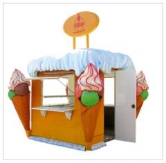 Prodejní stánky na zmrzlinu